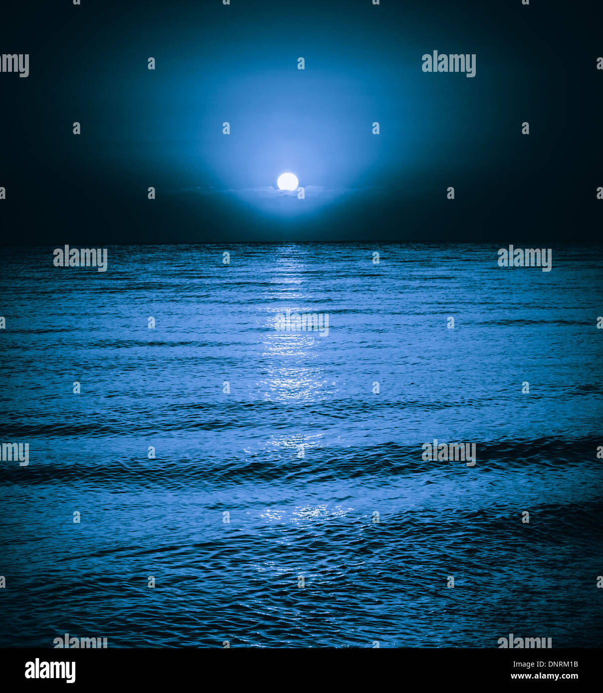 Large Moon Reflecting Over Smooth Waves On Water Stock ...   Full Moon Reflecting Off Water
