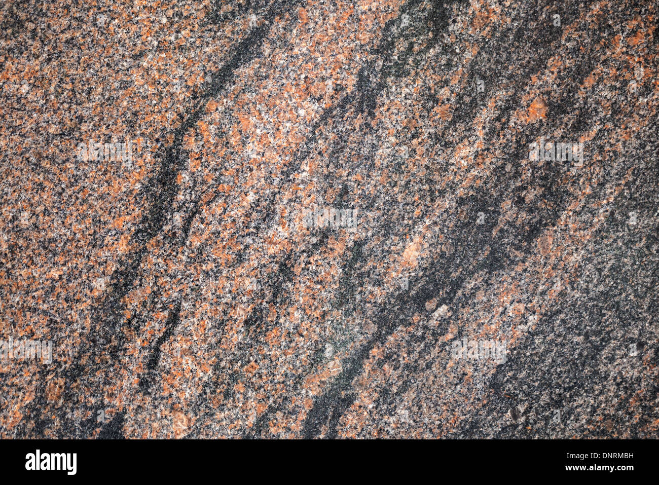 Red and gray granite stone background texture - Stock Image
