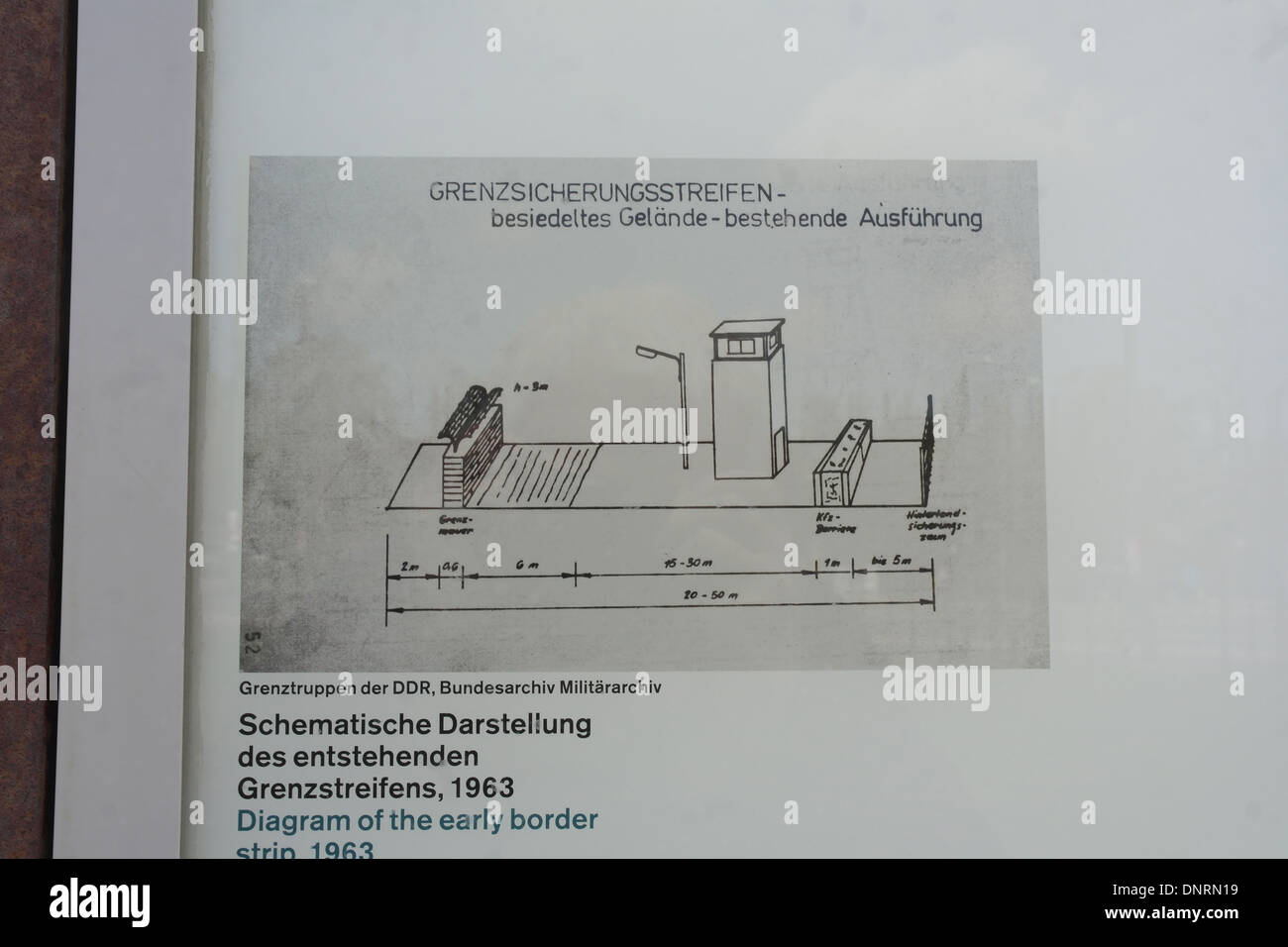 Diagram of the early border strip 1963 on an information panel at diagram of the early border strip 1963 on an information panel at the berlin wall memorial bernauer strasse germany ccuart Choice Image