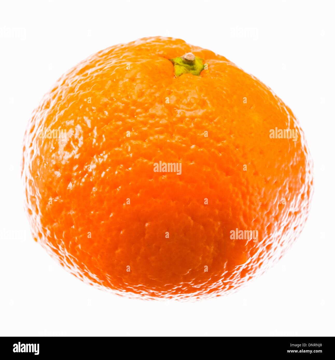 Ripe Mandarin Citrus Isolated Tangerine Mandarine Orange On White Background. - Stock Image