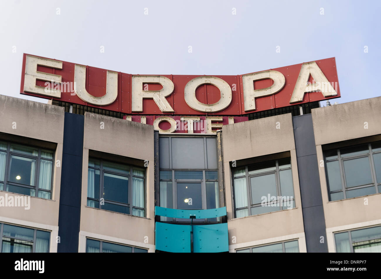 The Europa Hotel, Belfast, part of the Hastings Group and one of the most bombed hotels in the world. - Stock Image