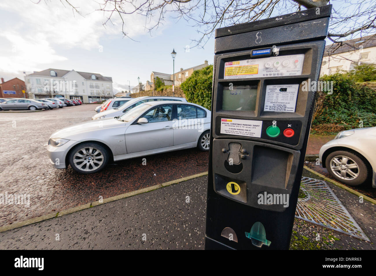 Parking meter at a pay-and-display car park - Stock Image