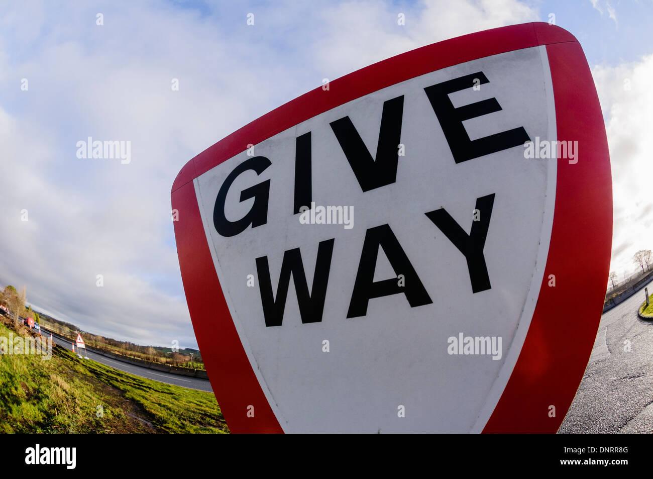 Give Way sign - Stock Image