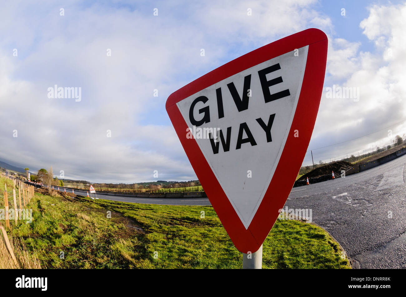 Give Way road sign - Stock Image