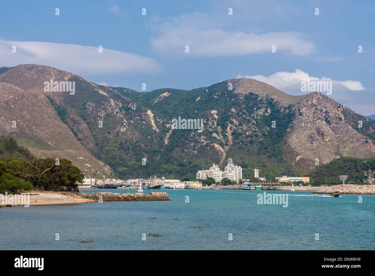 Landscape of Lantau Island, Hong Kong, China - Stock Image