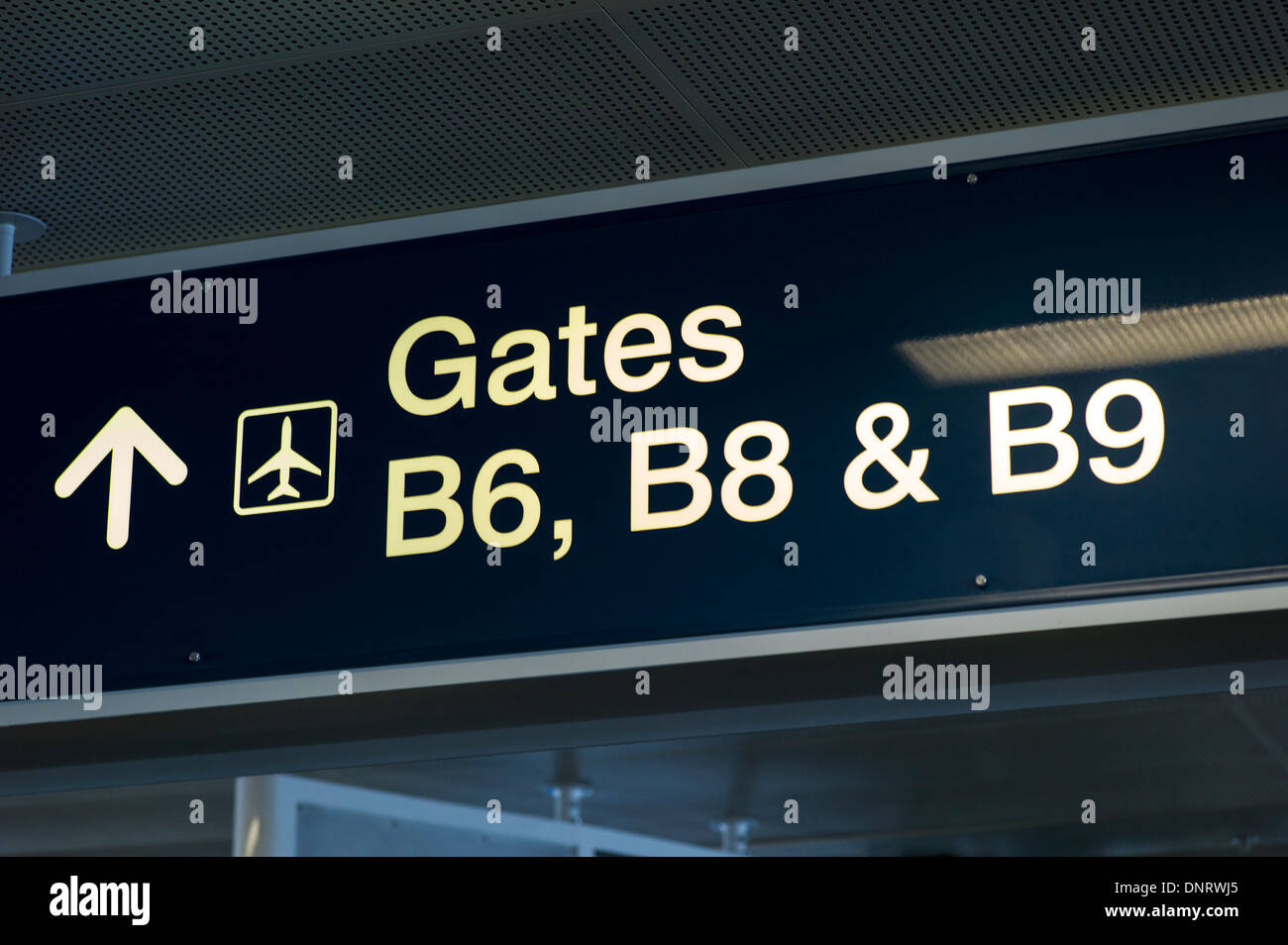 Signage at the Ft. Lauderdale - Hollywood International Airport, Ft. Lauderdale, Florida, USA - Stock Image