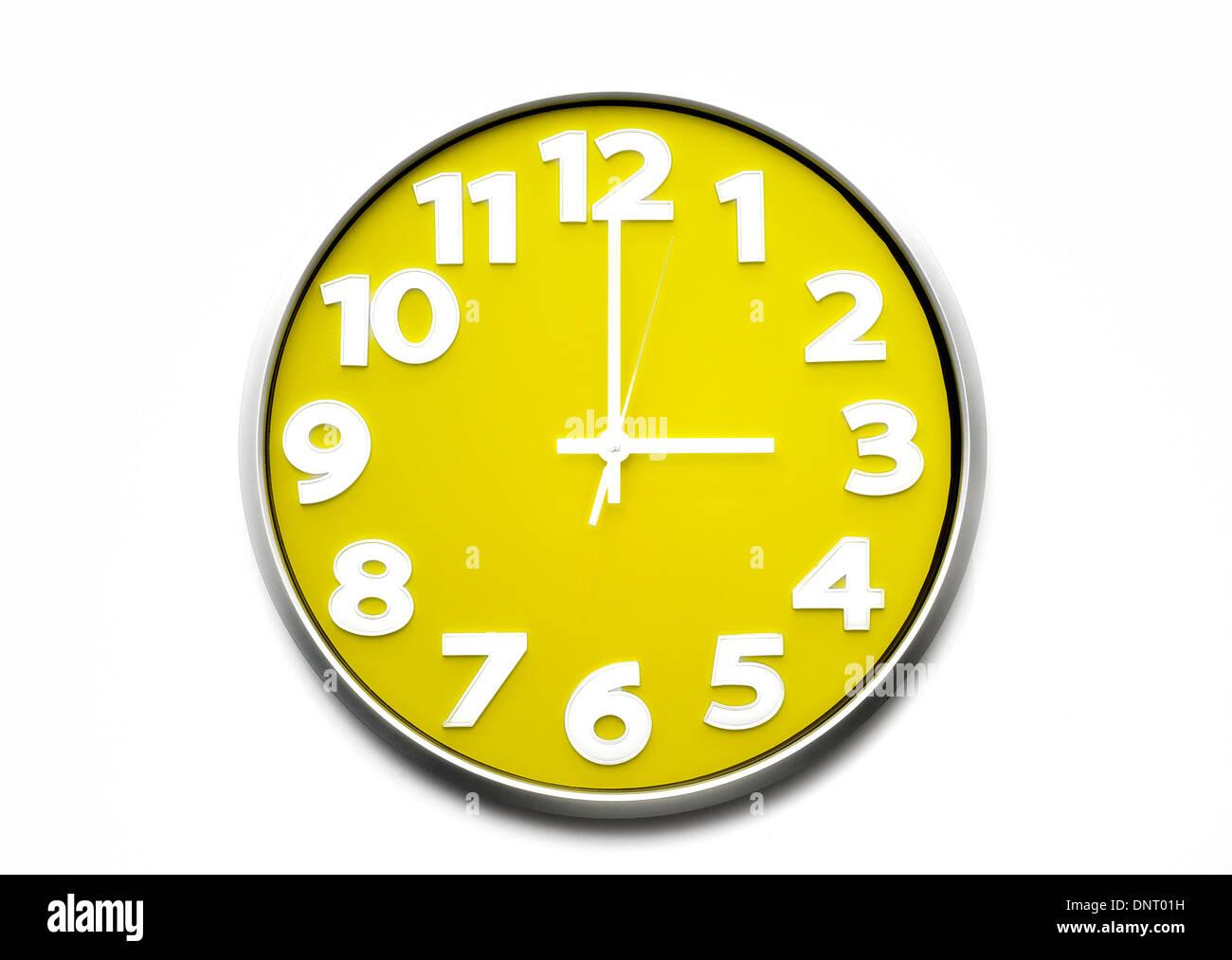 Yellow Clock Face 3 O Clock The Clock Strikes Three 1500