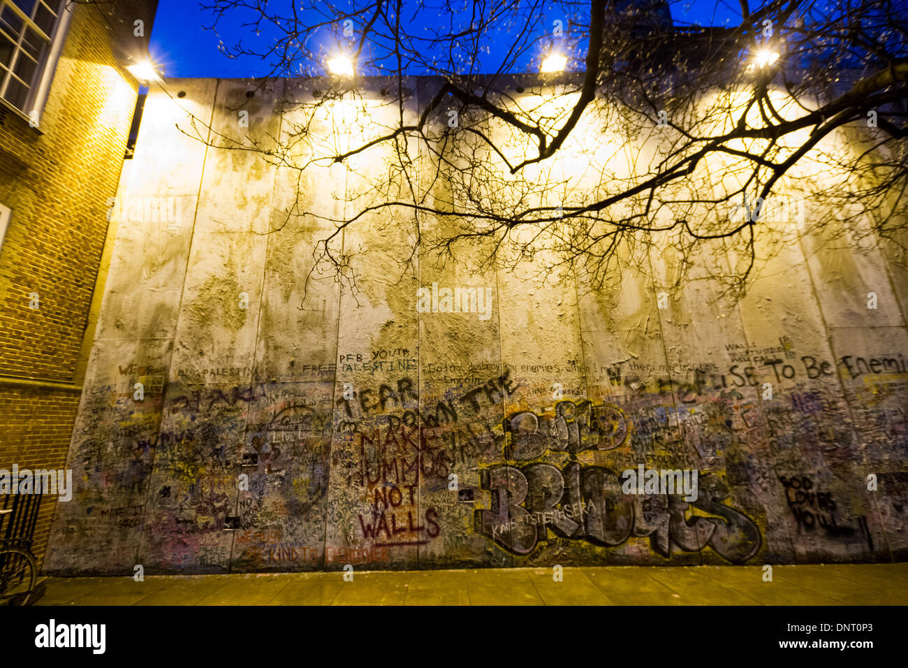 Bethlehem Wall art installation by Justin Butcher in London Stock ...