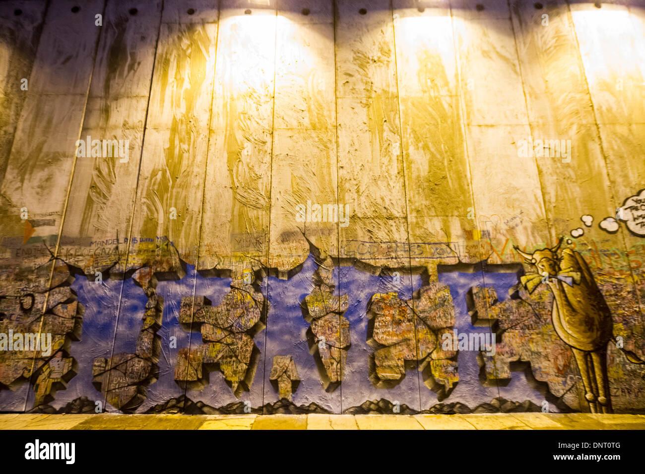 Bethlehem Wall Art Installation Stock Photos & Bethlehem Wall Art ...