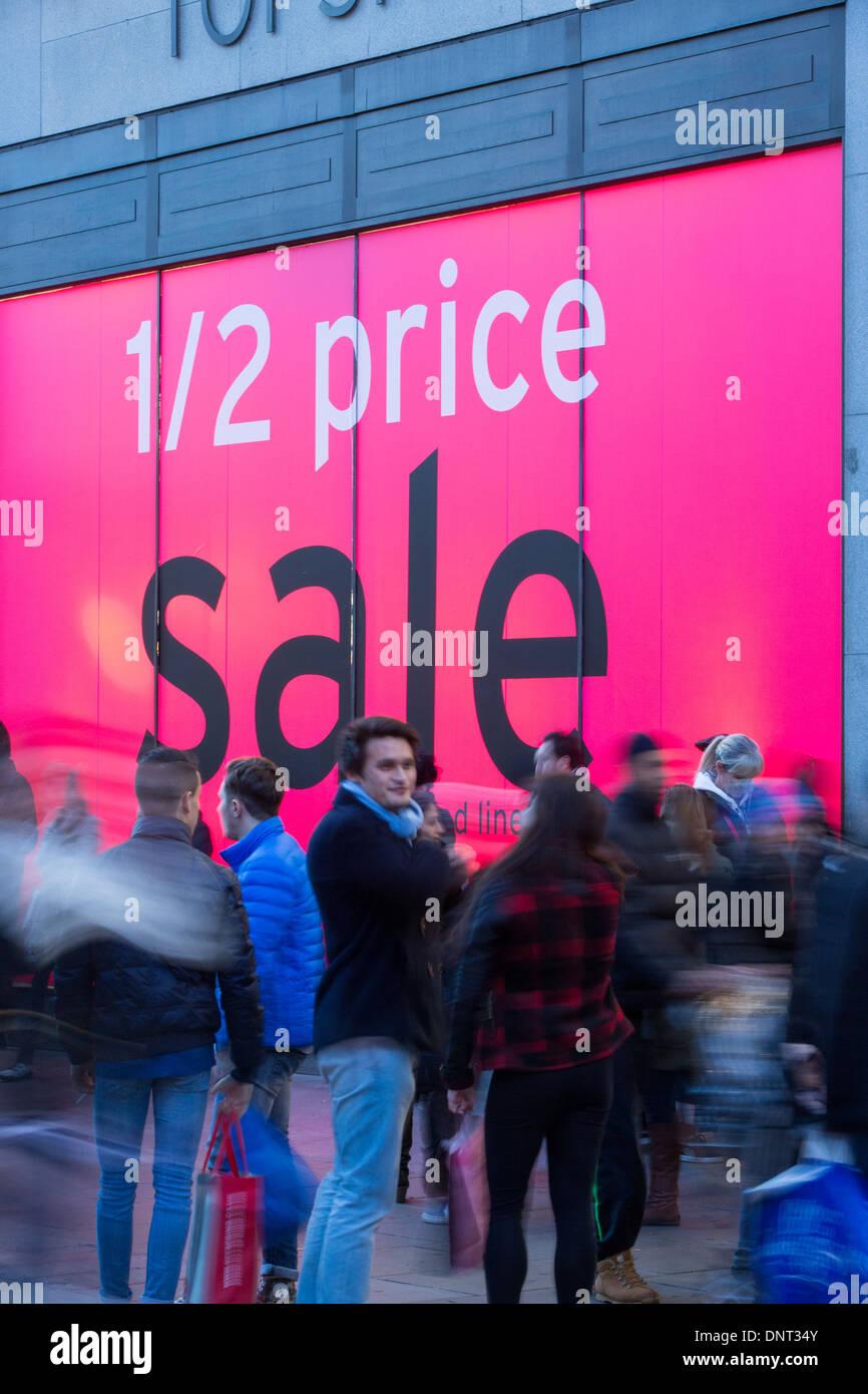 Sales time, Oxford Street, London, United Kingdom - Stock Image