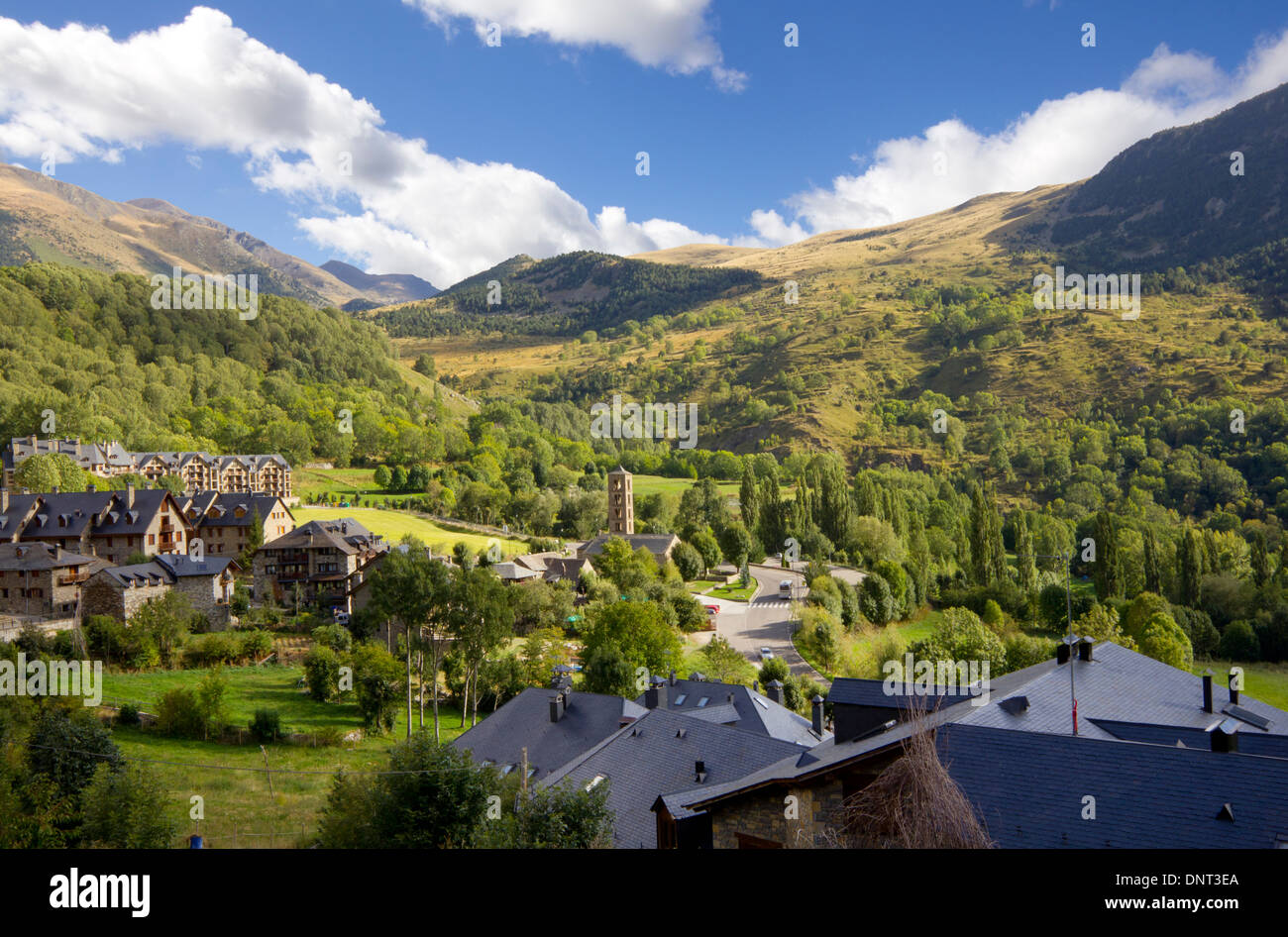 Taüll is the villages of the municipality of Vall de Boí in the comarca of Alta Ribagorça in Catalonia (Spain) - Stock Image