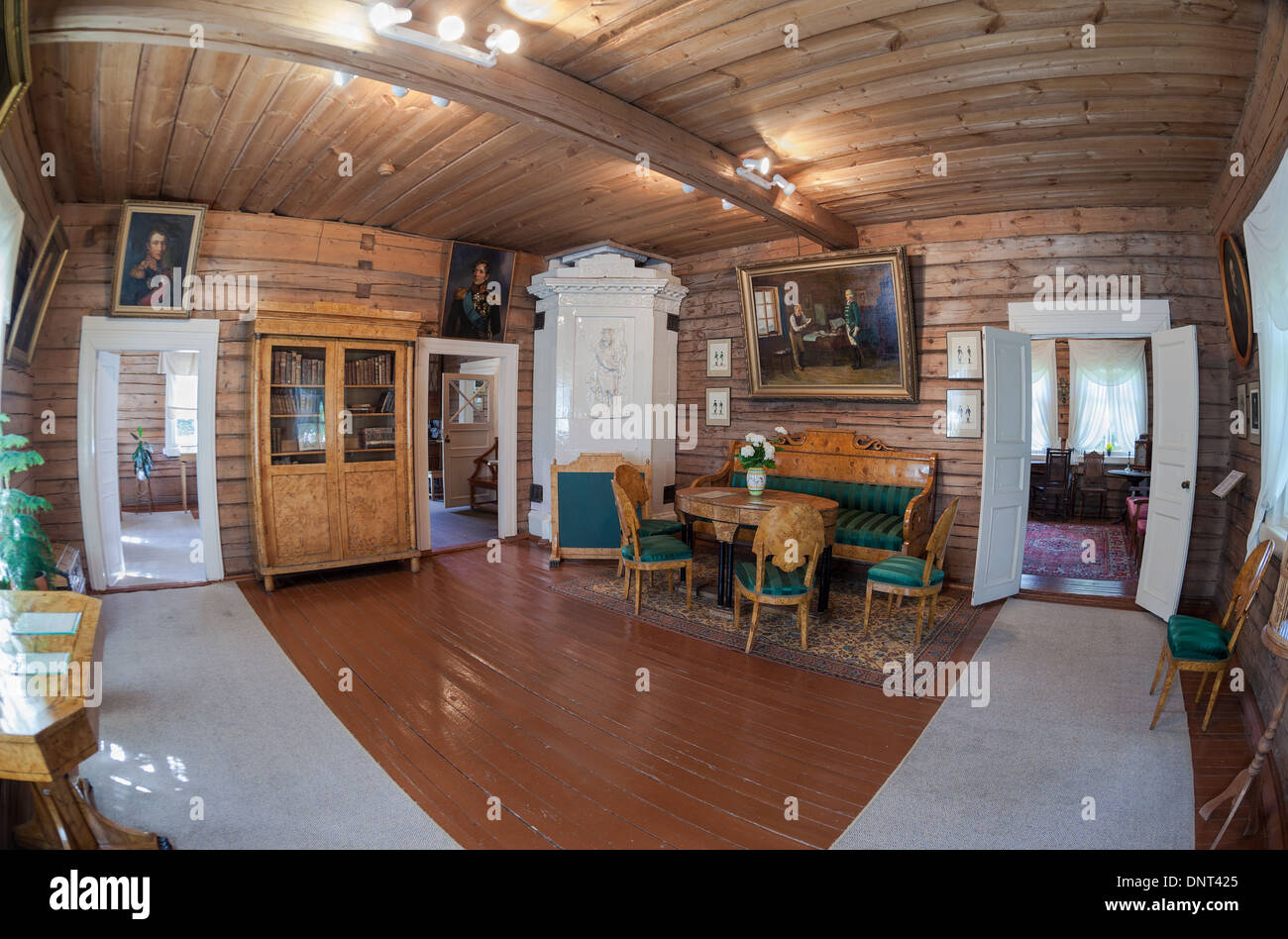 The interior of the museum Suvorov - Stock Image