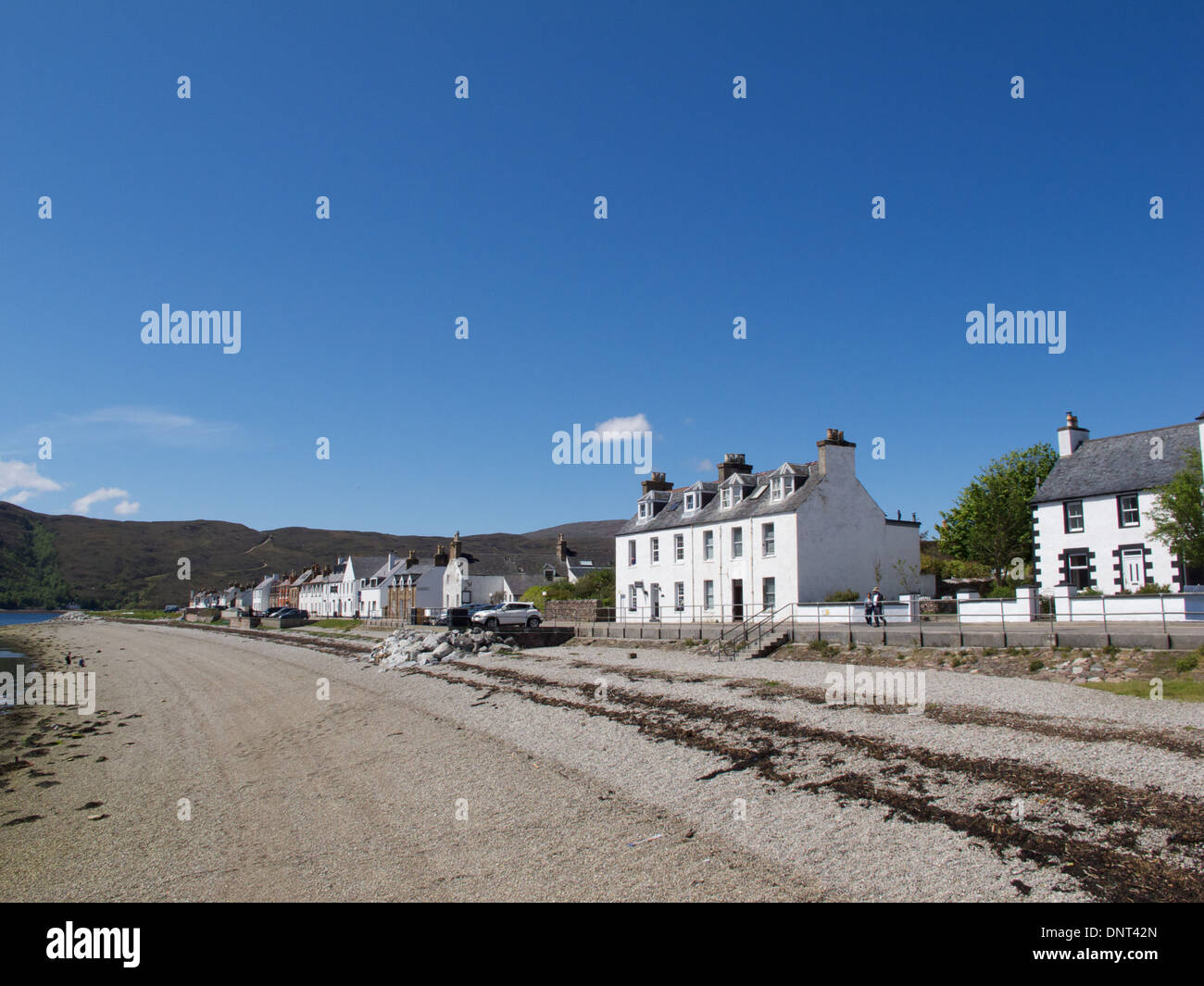 Ullapool, a picturesque fishing village on the shores of Loch Broom. - Stock Image