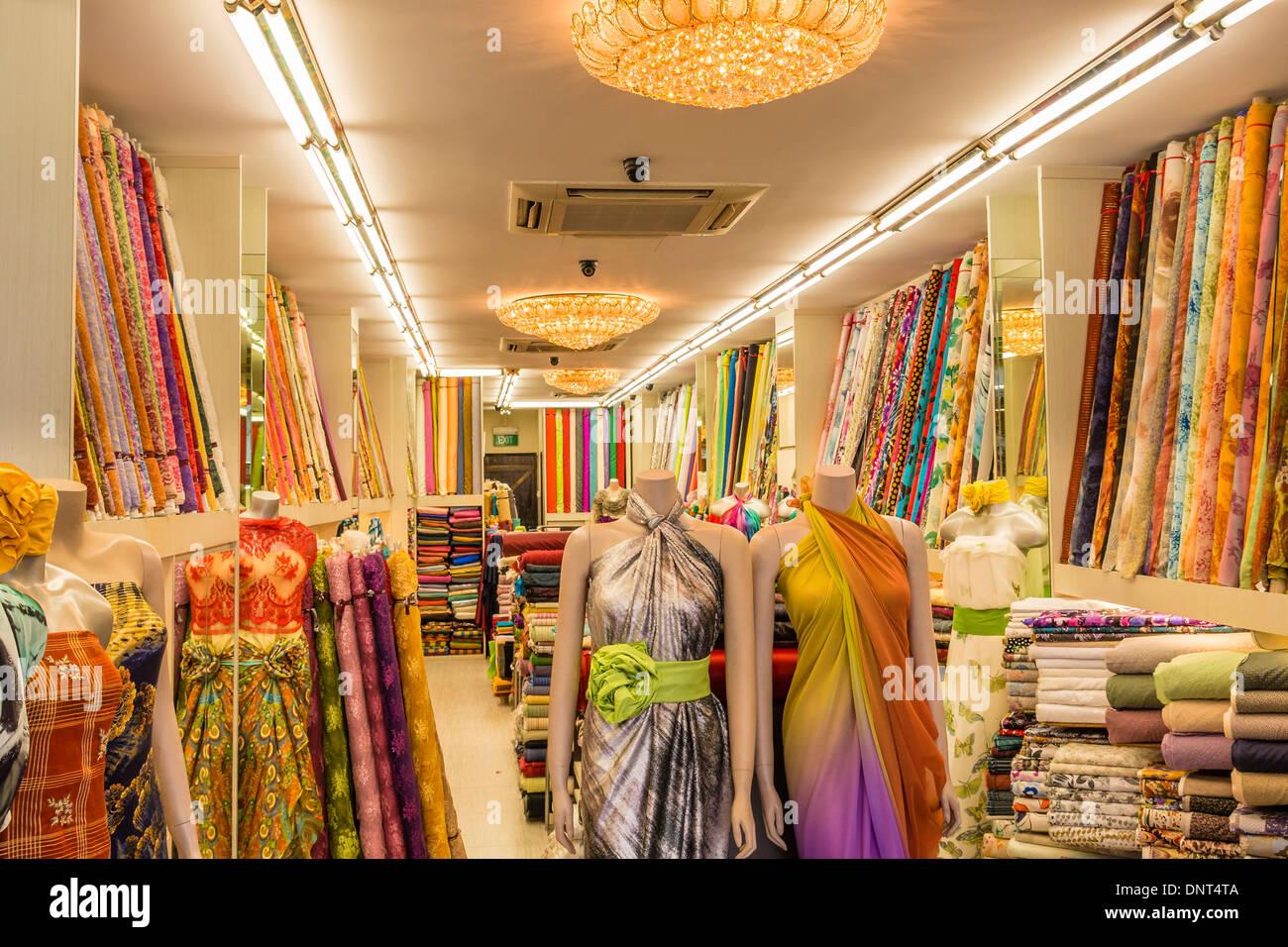 Cloth Shop, Kampong Glam, Singapore - Stock Image