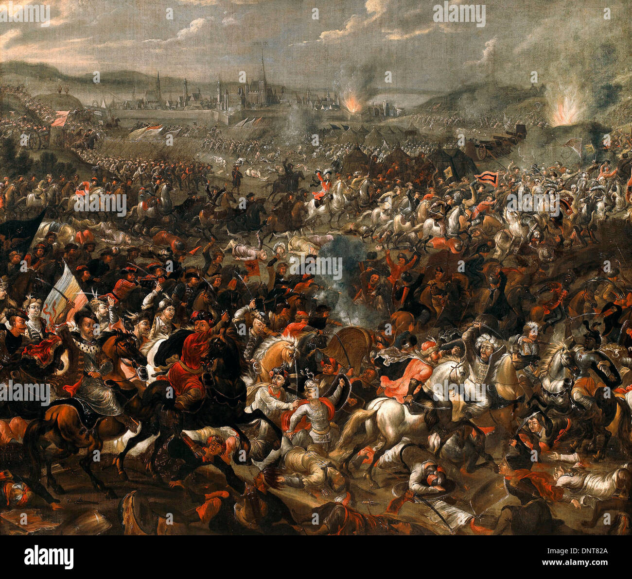 Pauwel Casteels, Battle of Vienna 1683-1685 Oil on canvas. Muzeum Palace,