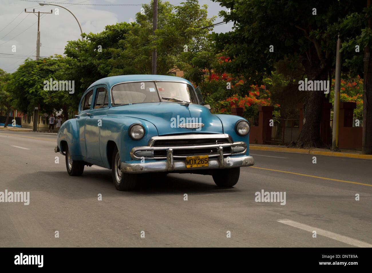 Cuban Cars in 2013 - Stock Image