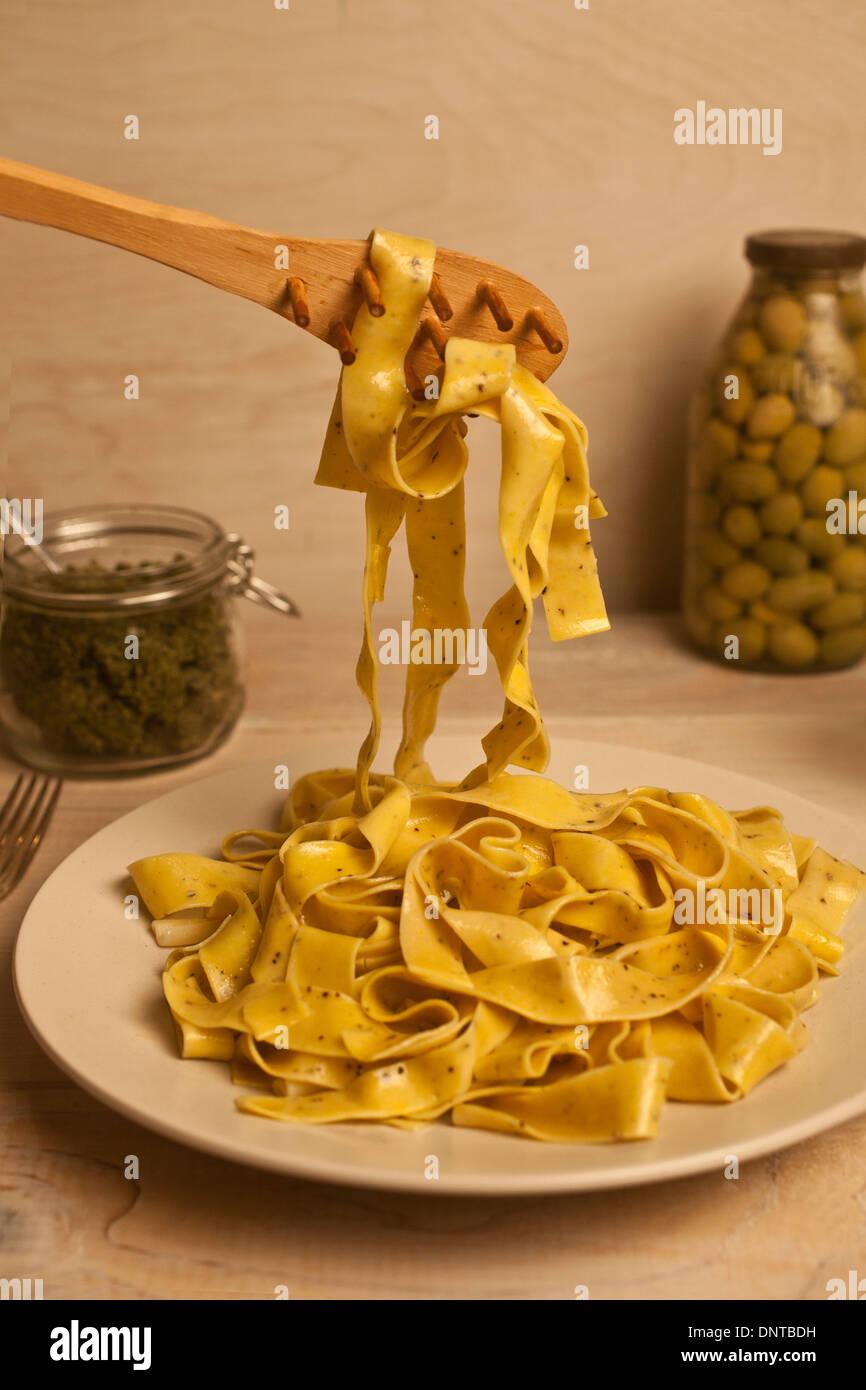 Plain pasta - Stock Image