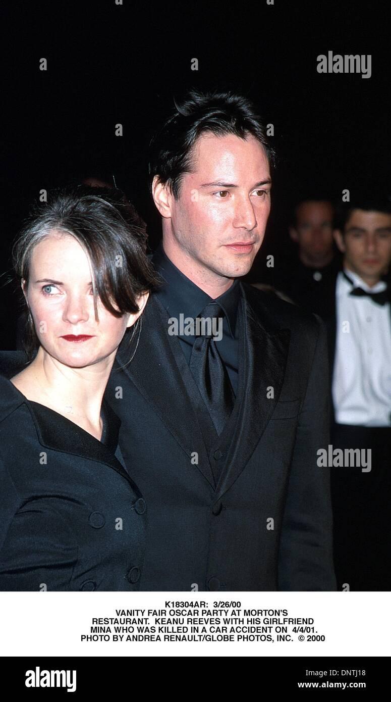 Apr 4 2001 K18304ar 3 26 00 Vanity Fair Oscar Party At Morton S Stock Photo Alamy