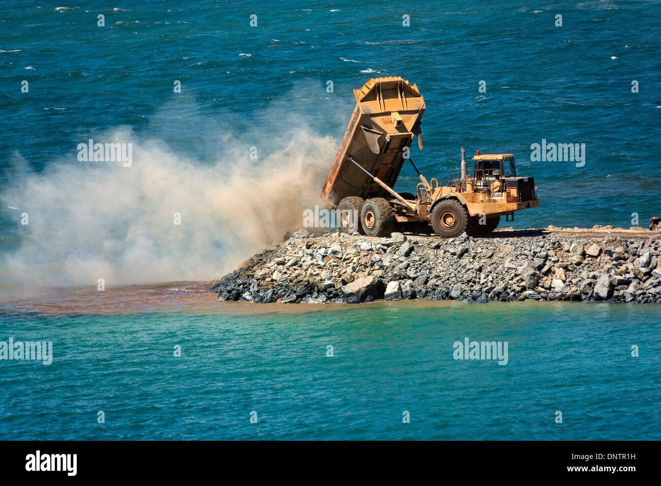 Construction of the Augusta Boat Harbour Mariner in Feb 2013, Augusta Western Australia - Stock Image