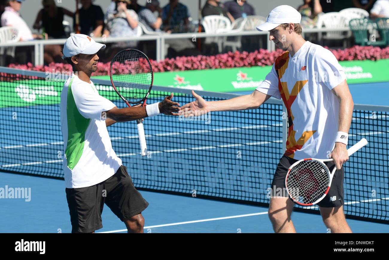 Auckland New Zealand 06th Jan 2014 Doubles Partners Eric Butorac