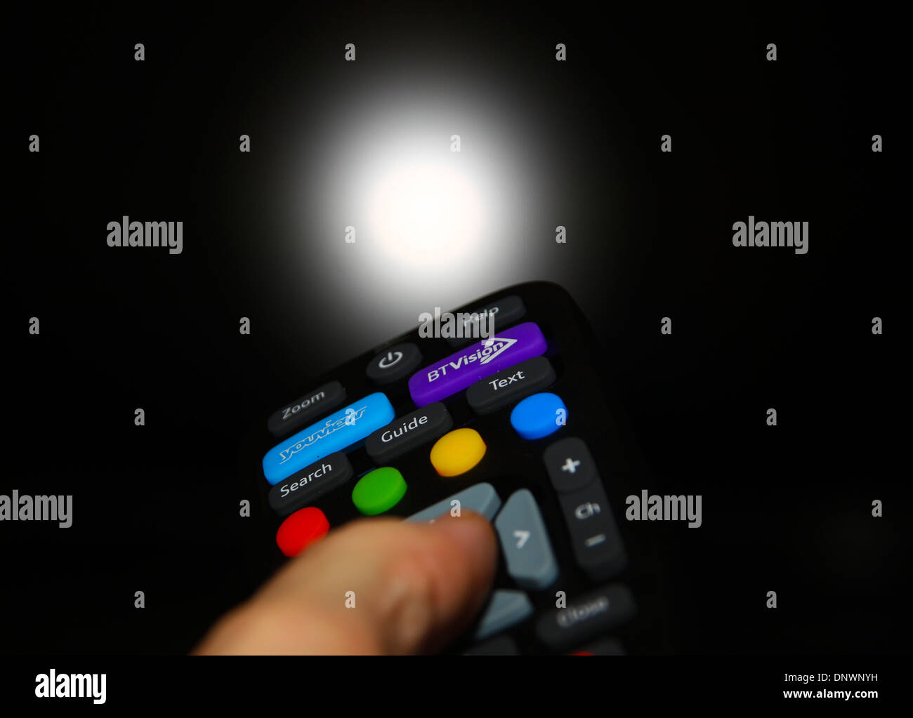 BT Vision Youview remote control handset - Stock Image