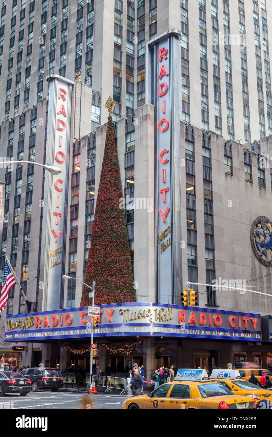 Radio City Music Hall, Rockefeller Center, New York City. - Stock Image