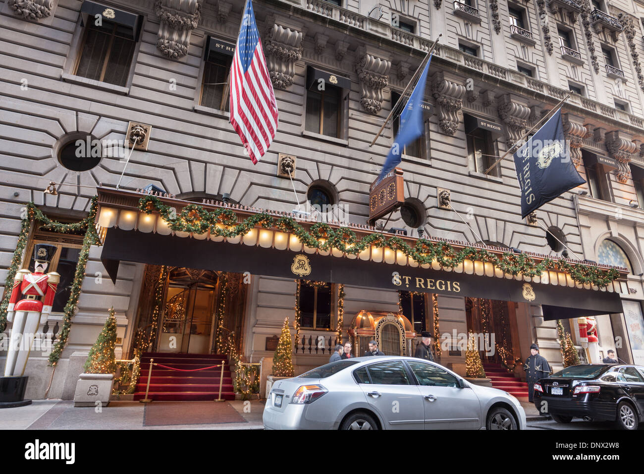 St. Regis Hotel, Beaux-Arts classic luxury hotel planned by John Jacob Astor. Stock Photo