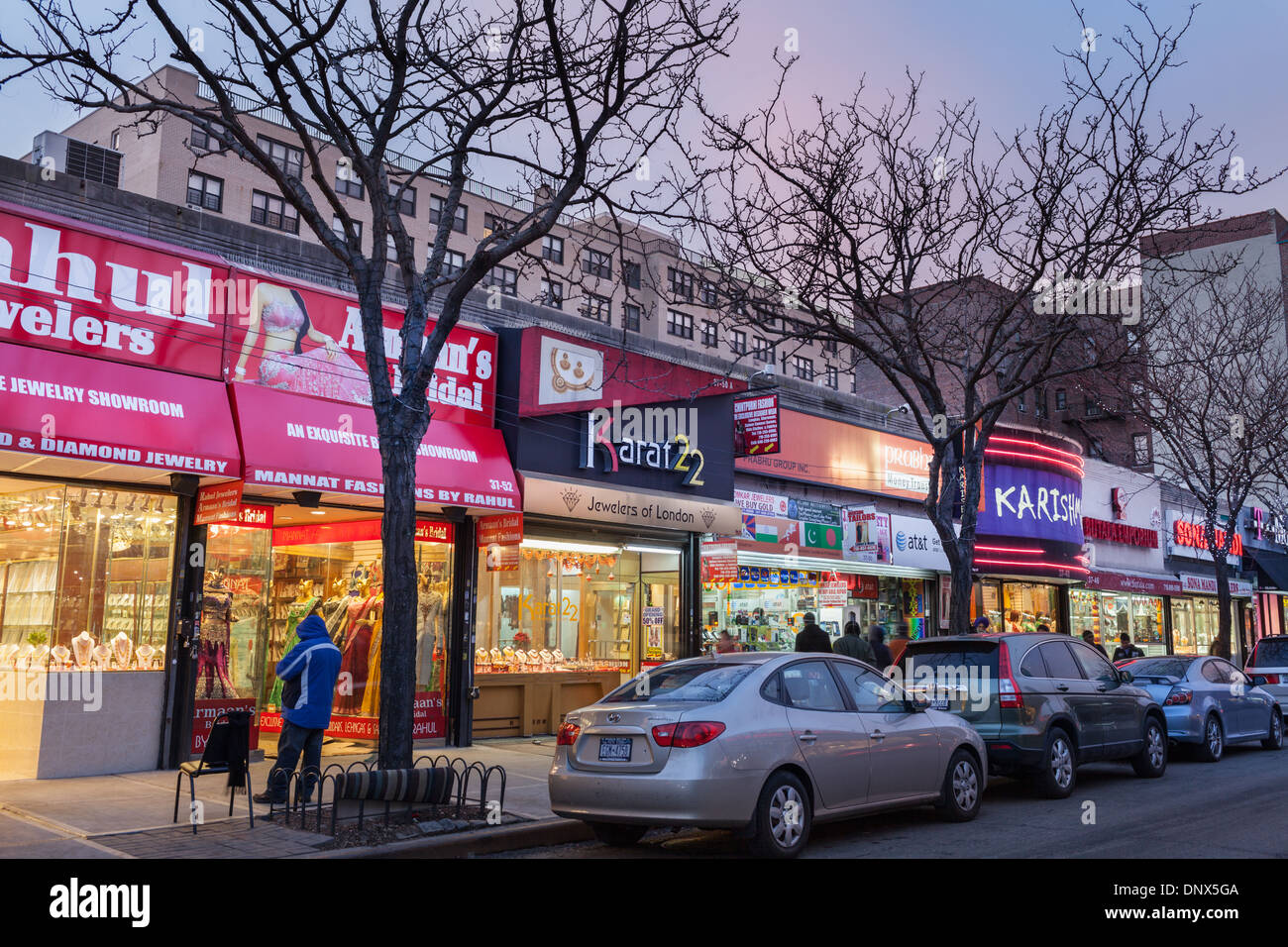 'Little India' district of Jackson Heights, Queens, New York City - Stock Image
