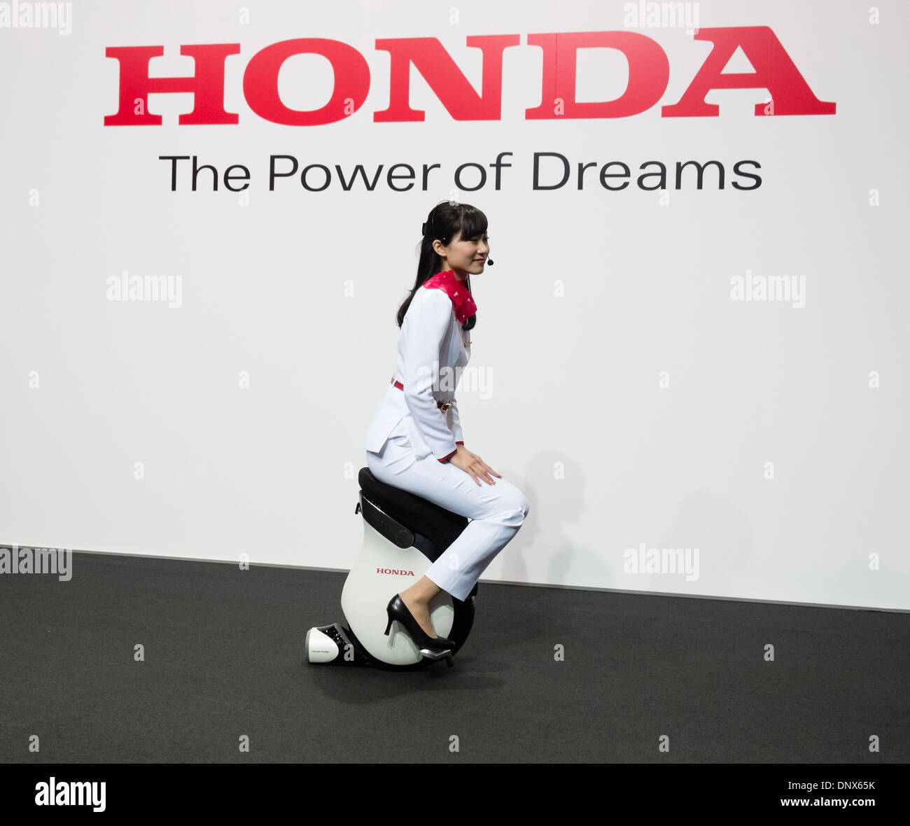 Honda Uni-CUB electric concept personal Mobility Device on display at Tokyo Motor Show 2013 in Japan - Stock Image
