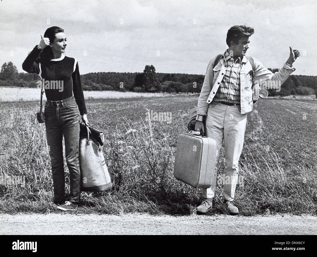 916de6d0 July 2, 1967 - AUDREY HEPBURN Albert Finney.Two for the Road Stock ...