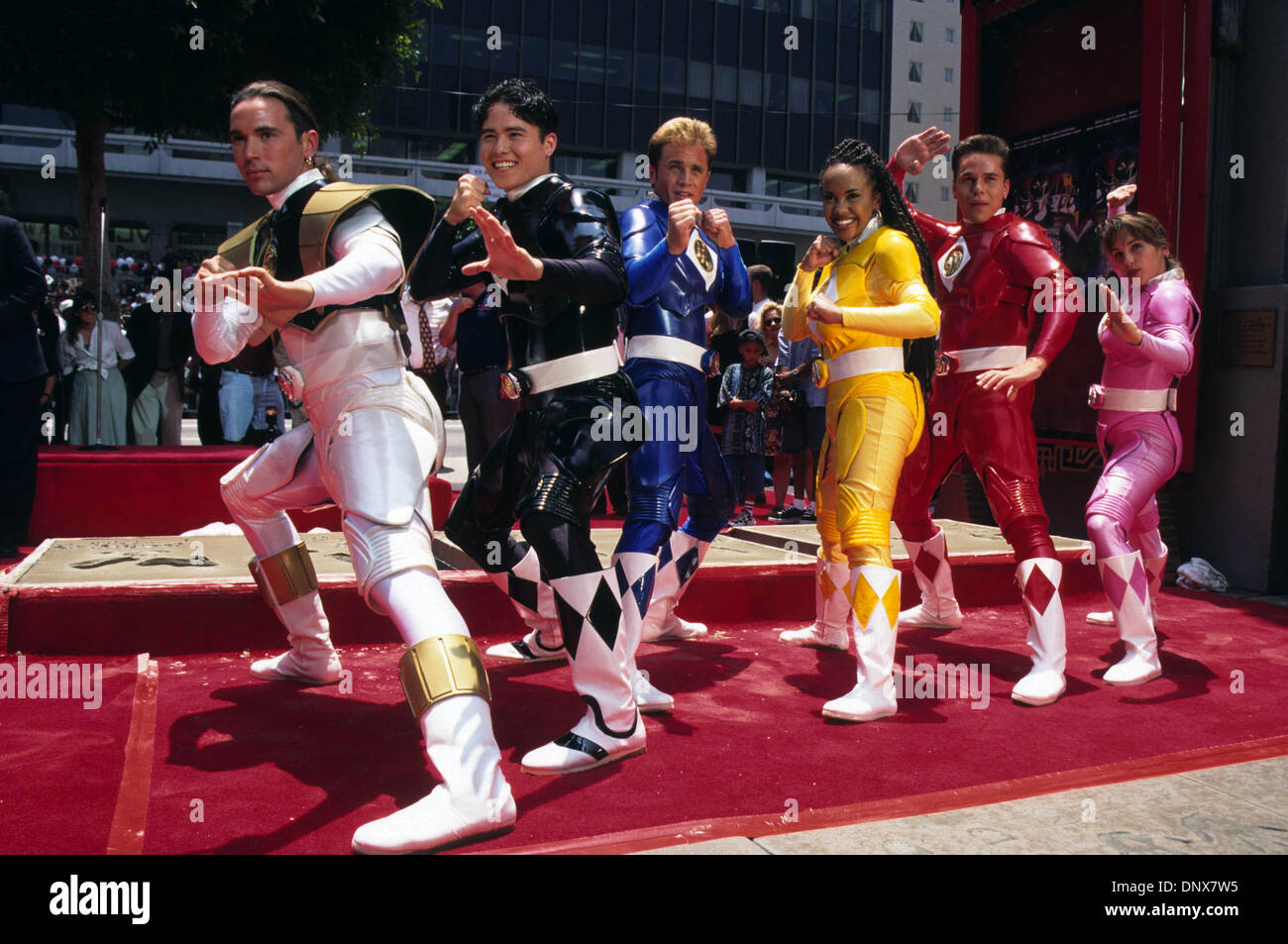 Jan. 1, 1995 - Hollywood, California, U.S. - Exact Date Unknown.MIGHTY MORPHIN' POWER RANGERS. 01/01/1995(Credit Stock Photo