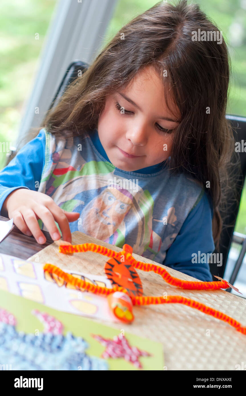 Child and handicrafts - Stock Image