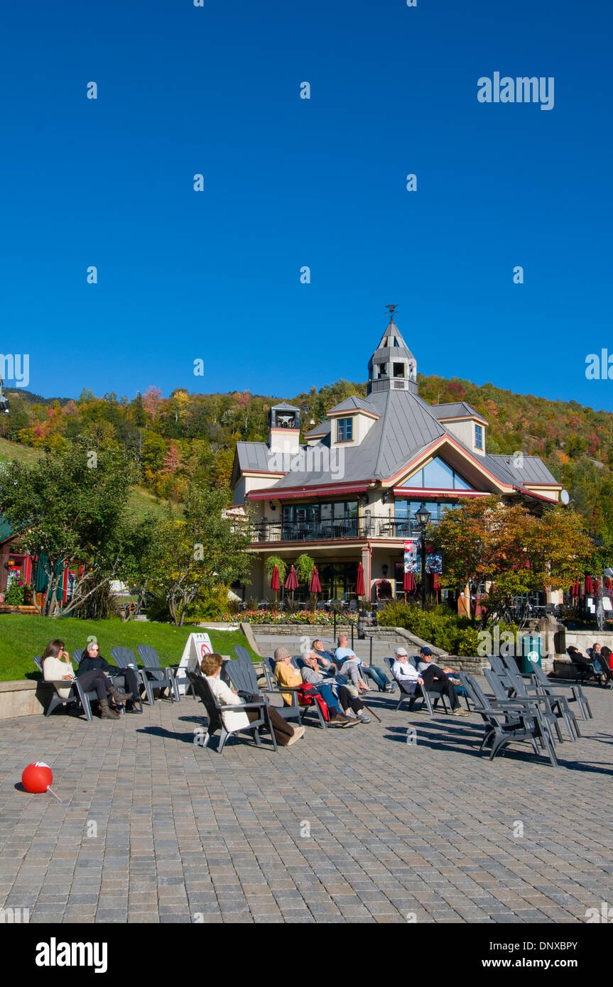 Mont Tremblant Resort Laurentides Canada - Stock Image