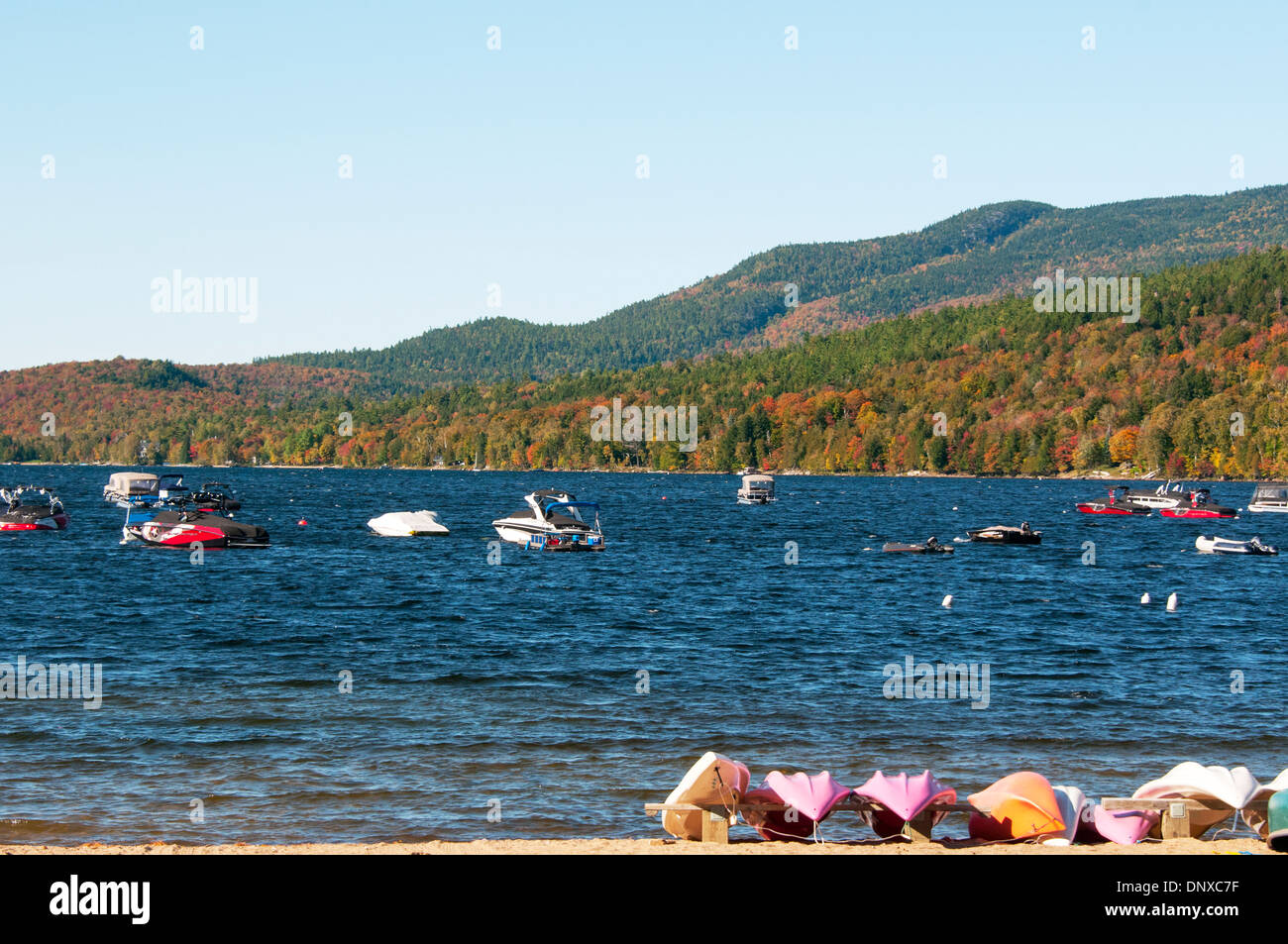 Mont Tremblant Beach Lake - Stock Image