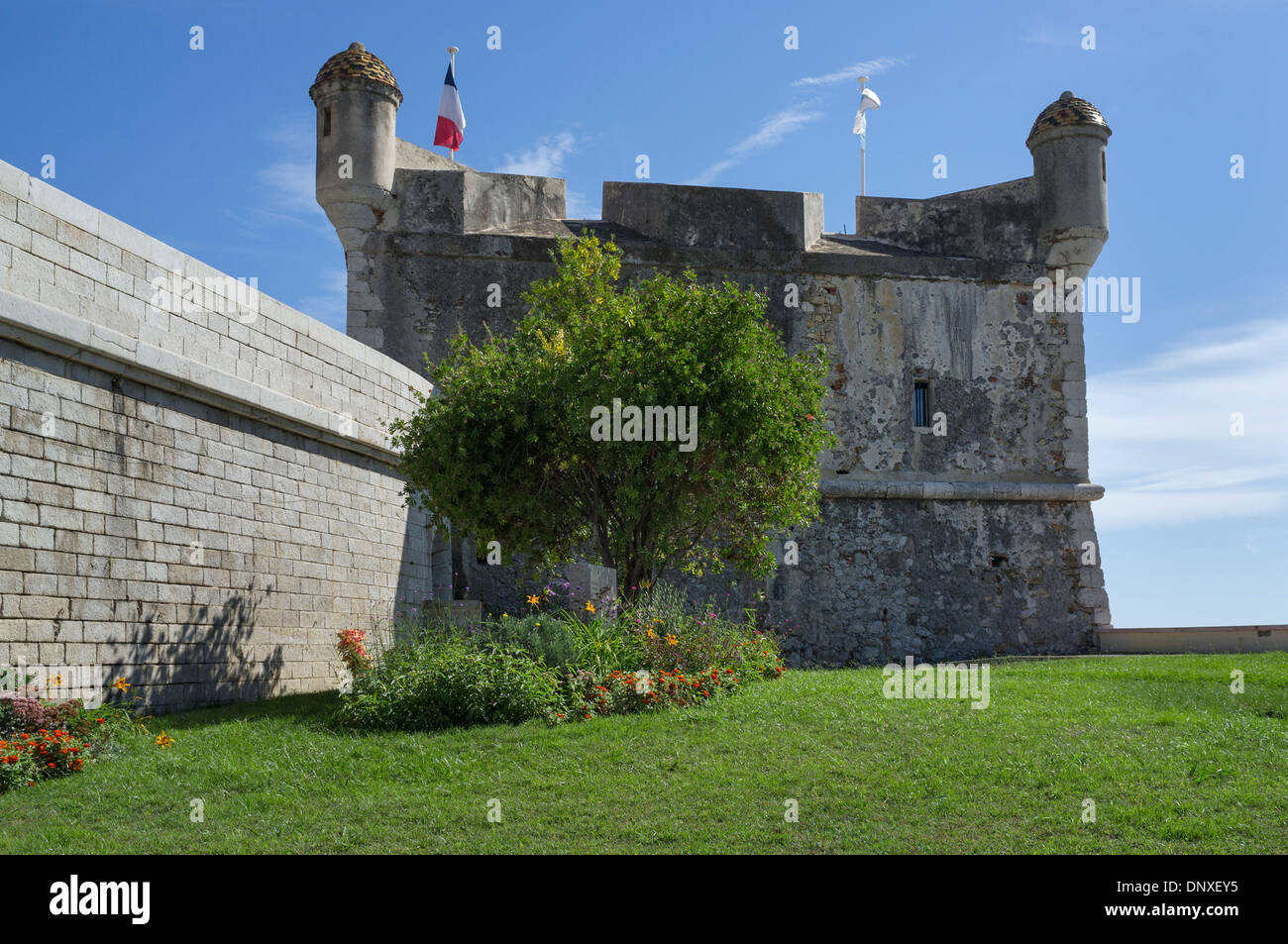 The Harbour Bastion now housing the Musée Jean Cocteau in Menton - Stock Image