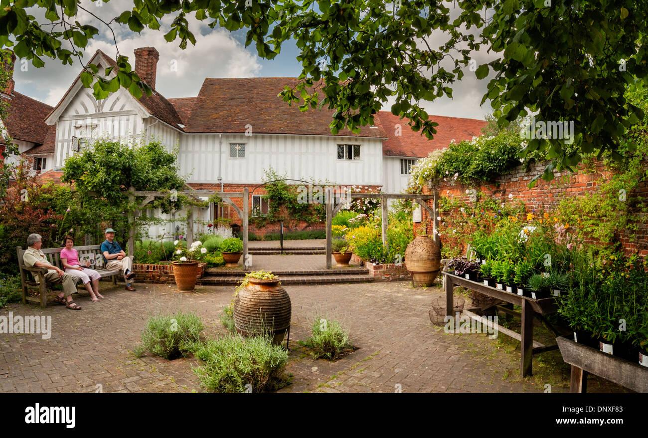 Lavenham Guildhall Garden - Stock Image
