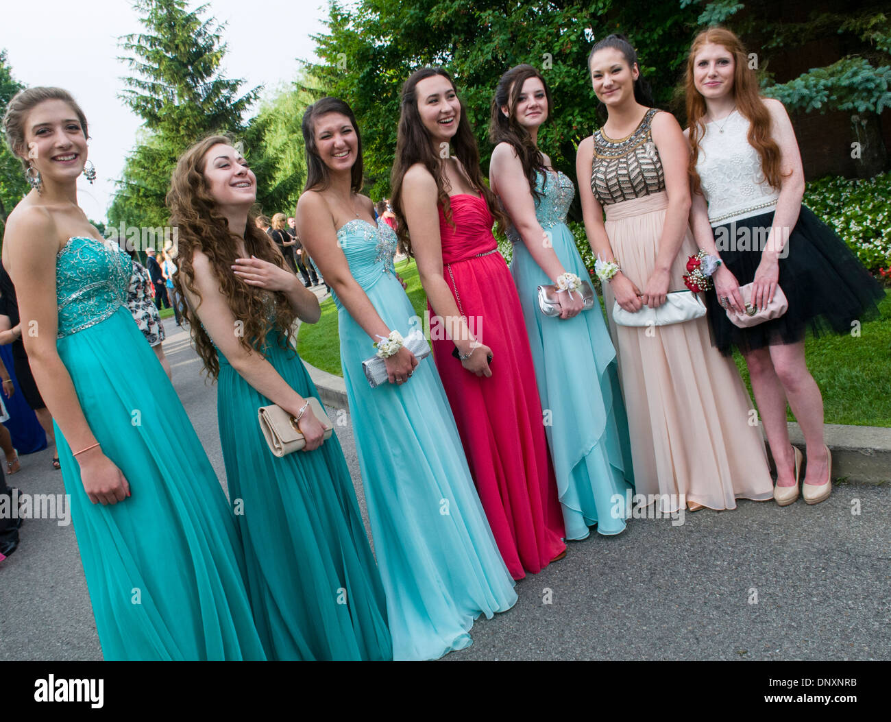 High school prom evening party Canada Stock Photo: 65126751 - Alamy