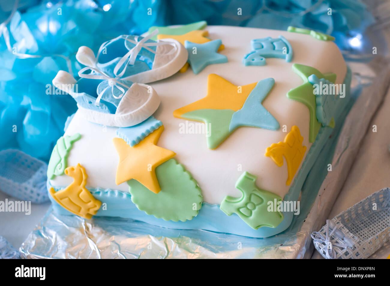 Baby shower cake - Stock Image