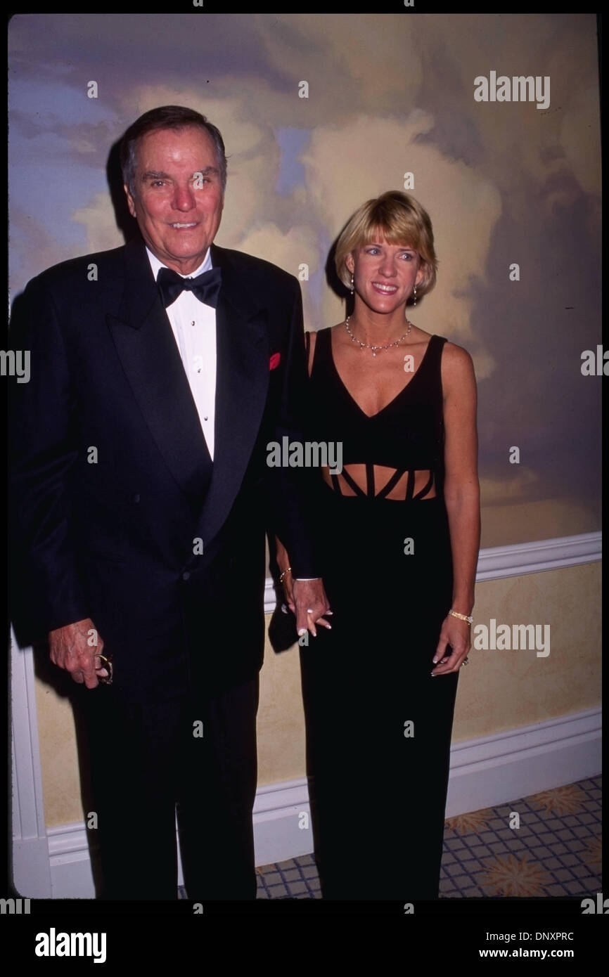 PETER MARSHALL and wife LAURIE MARSHALL attend the Albert B.Sabin Foundation gala at the Beverly Hilton Hotel Mandatory Credit: Kathy Hutchins/ZUMA Press. (©) Kathy Hutchins - Stock Image