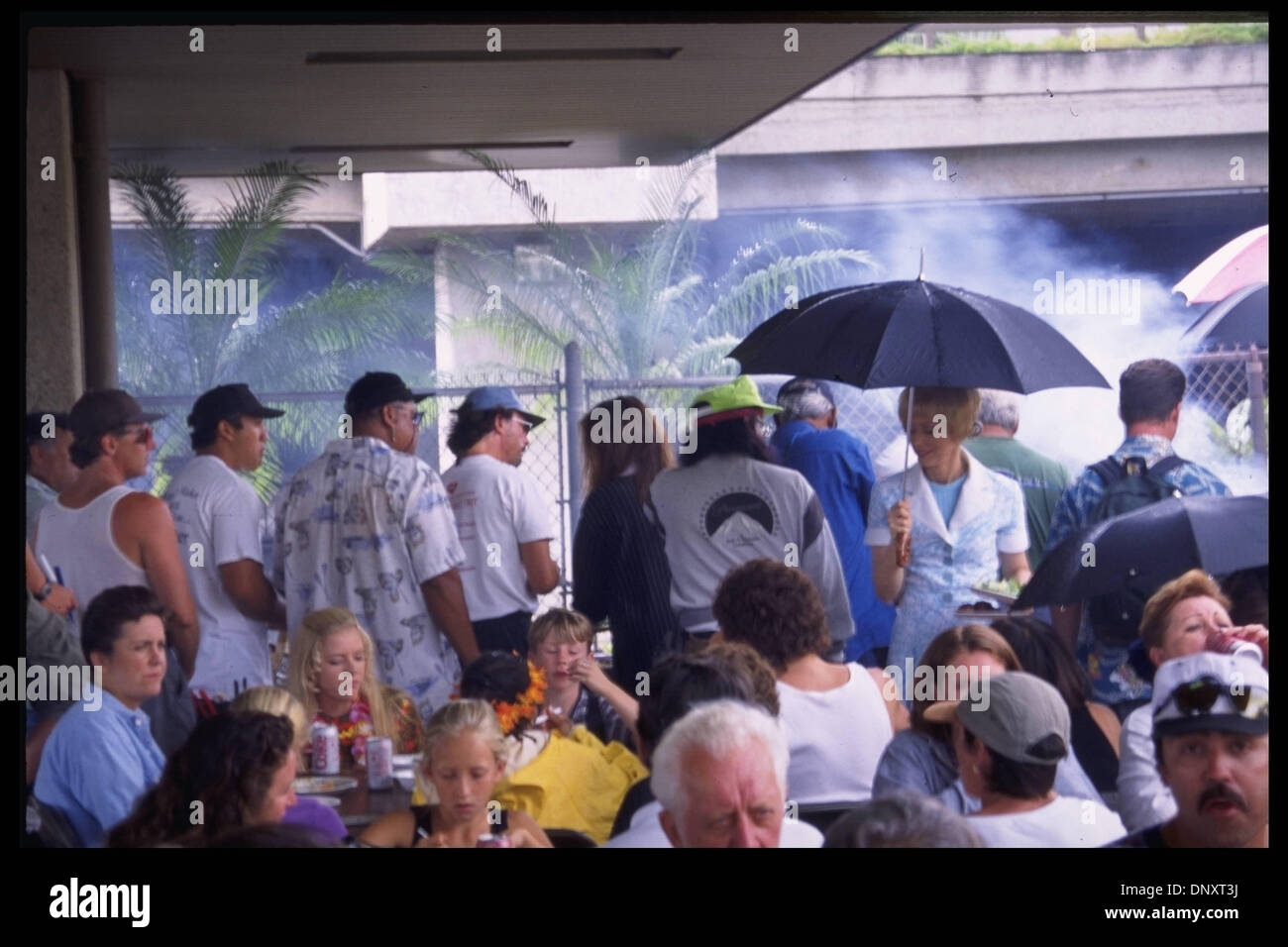 Hollywood, CA, USA; The cast of ' A VERY BRADY SEQUEL. ' are rained out from the film. Mandatory Credit: Kathy Hutchins/ZUMA Press. (©) Kathy Hutchins - Stock Image