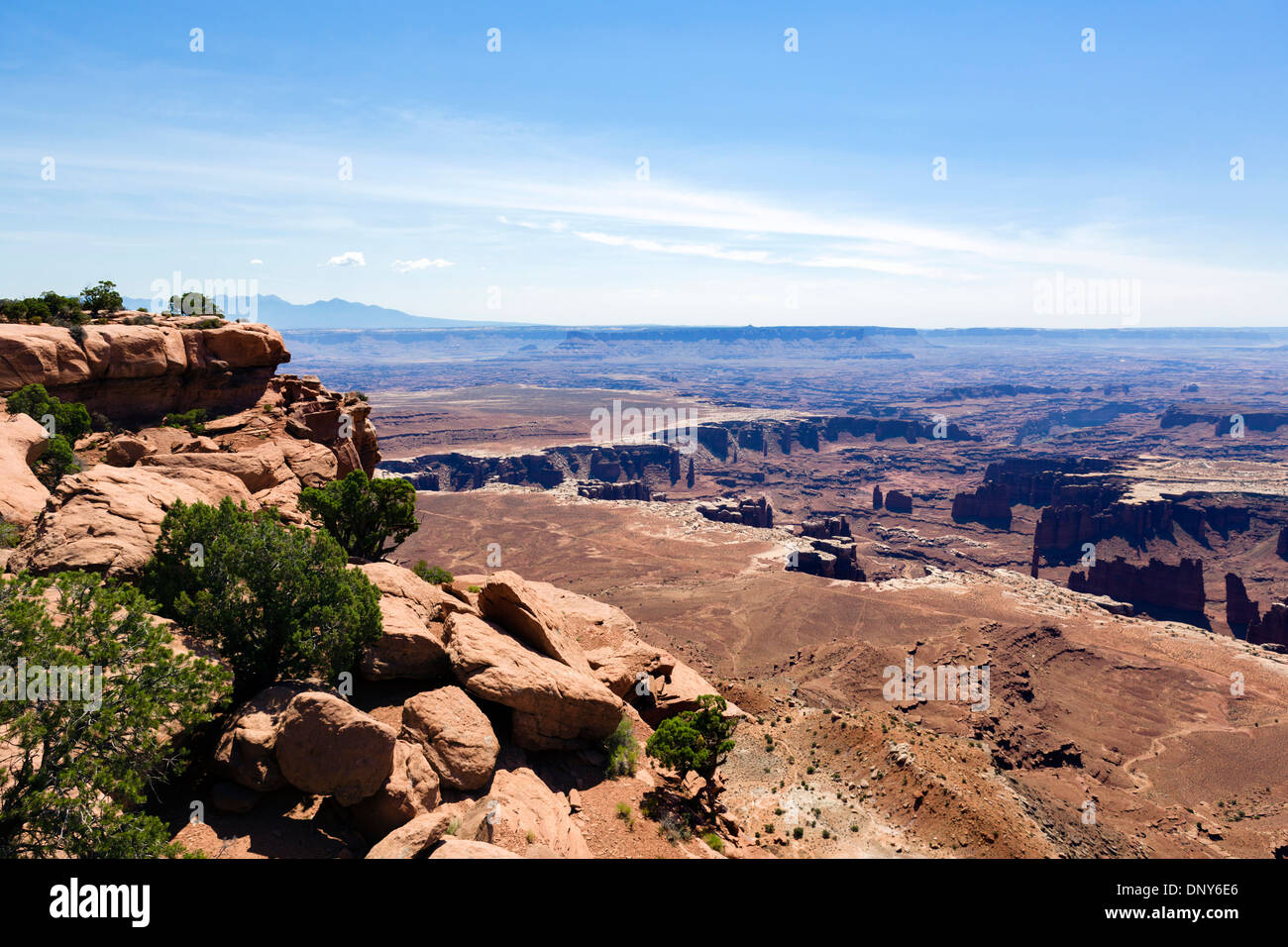 Grand View Point, Island in the Sky, Canyonlands National Park, Utah, USA - Stock Image
