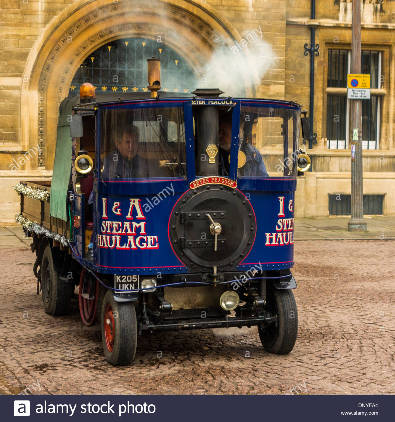 Steam haulage truck in Kings Parade, Cambridge, England, UK - Stock Image