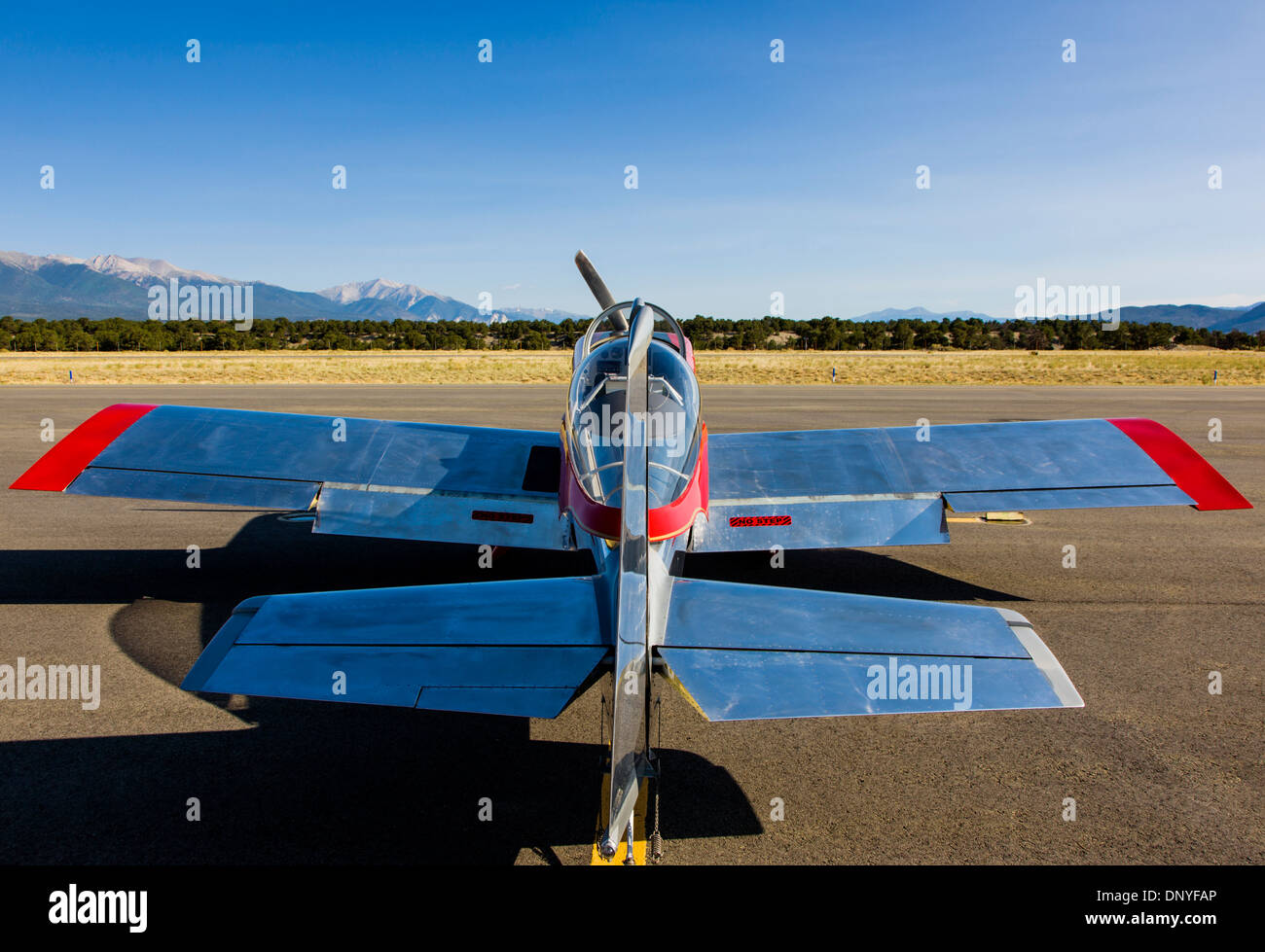 Van's Aircraft RV8; Antique and modern airplanes at the annual Salida ArtWalk Fly-In event - Stock Image
