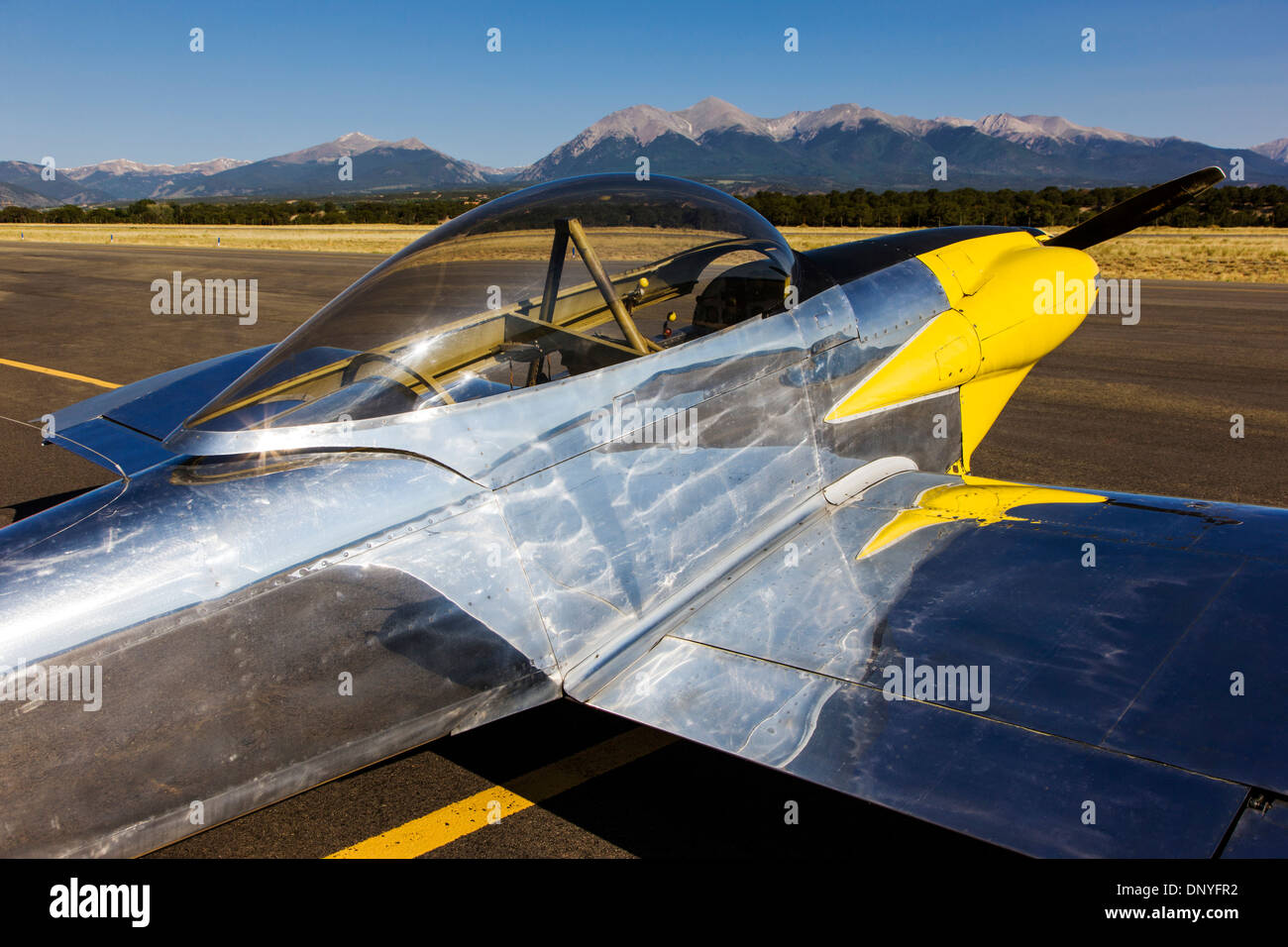 Van's Aircraft RV4; Antique and modern airplanes at the annual Salida ArtWalk Fly-In event Stock Photo