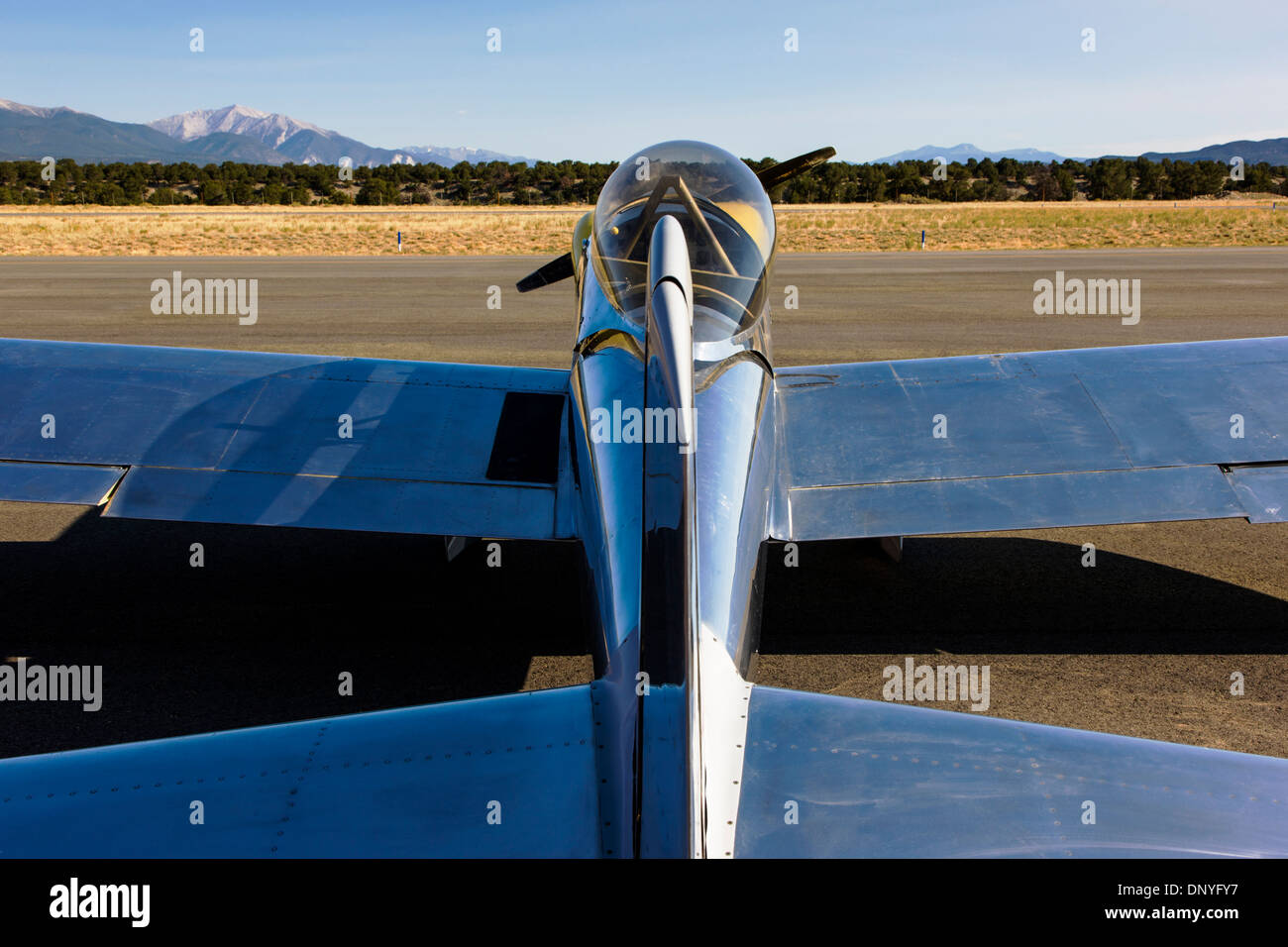 Van's Aircraft RV4; Antique and modern airplanes at the annual Salida ArtWalk Fly-In event - Stock Image