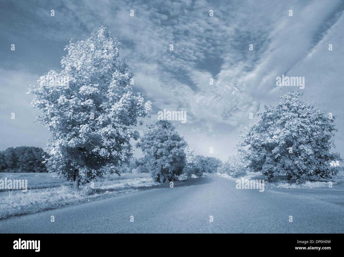 Warped road - Stock Image