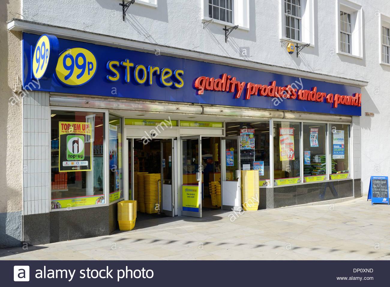 99p Shop, Castle Back, Haverfordwest, Dyfed, Wales UK - Stock Image
