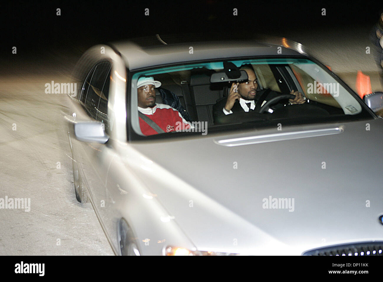 Apr 11, 2006; Rochester Hills, MI, USA; (File Photo January 14th 2006, best man Rapper Proof (R) , leaves Eminem's remarriage to Kim Mathers, at Medow Brook Hall in Rochester Hills, Michigan). Rapper PROOF (Deshaun Holton) of the hip-hop group D12 was shot and killed this morning at an illegal afterhours club on Eight Mile. Mandatory Credit: Photo by Jeff Kowalsky/ZUMA Press. (©) C - Stock Image