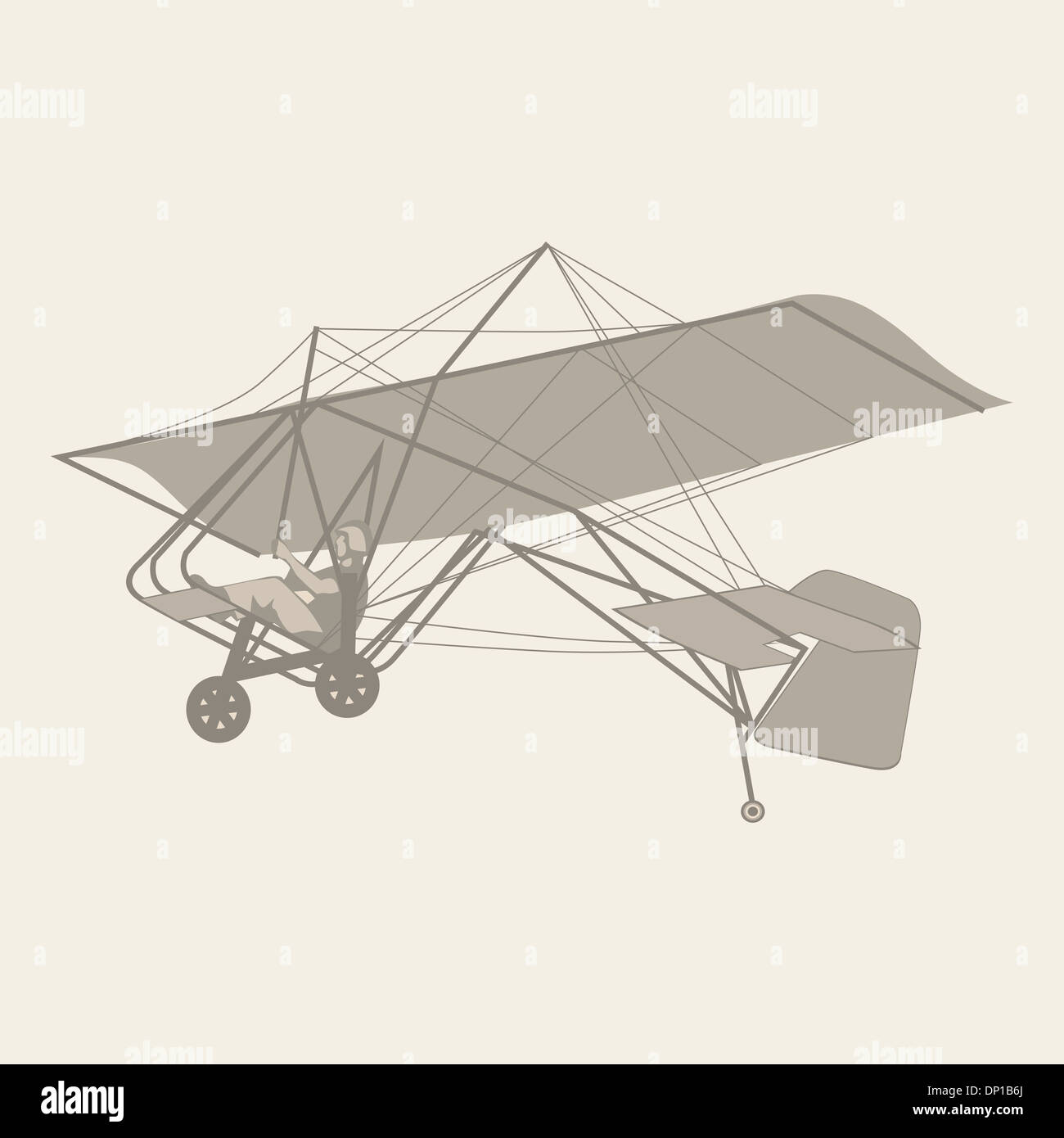 illustration of isolated glider - Stock Image