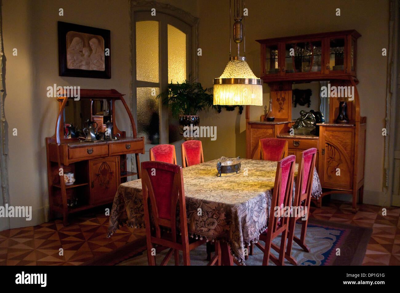 Dining Room Interior Casa Mila Stock Photos & Dining Room Interior ...